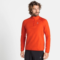 Midlayer con 1/2 zip CARVE CERAMIWARM da uomo, orange.com, large