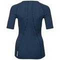 PURE WOOL met 3/4-mouwen en V-hals voor dames, blue wing teal, large