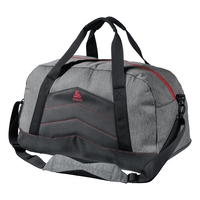 Bag TRAINING, grey melange - white, large