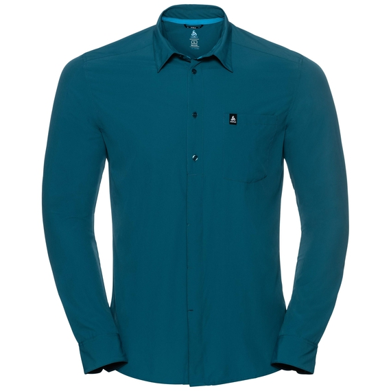 Men's SAIKAI COOL LIGHT Long-Sleeve Top, blue coral, large
