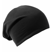 Unisex Reversible Beanie Hat, black, large