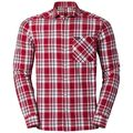 ANMORE Shirt longlsleeve men, jester red - white - peacoat - check, large