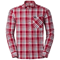 ANMORE langärmeliges Shirt Herren, jester red - white - peacoat - check, large