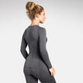 Women's PERFORMANCE WARM Long-Sleeve Base Layer Top, grey melange - black, large