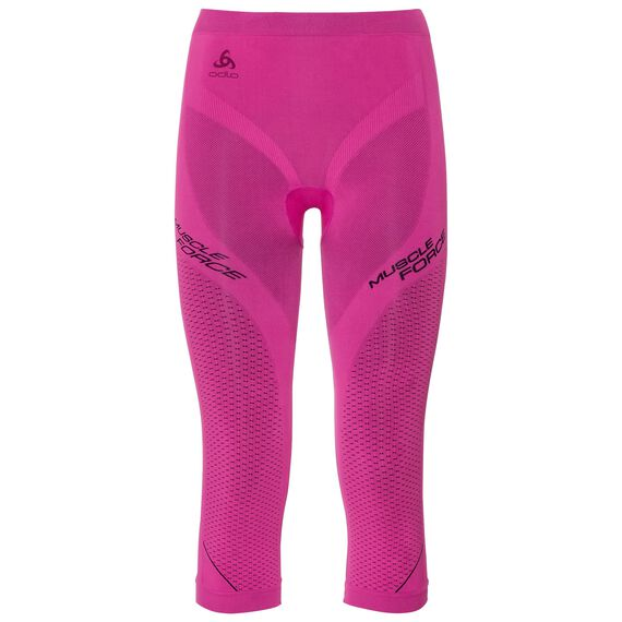 Pants 3/4 PERFORMANCE MUSCLEFORCESkiing Warm, pink glo - peacoat, large