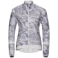 FUJIN Jacke, odlo silver grey - paper print, large