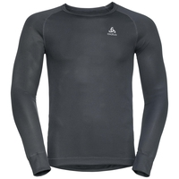 Shirt l/s crew neck CUBIC, ebony grey - black, large