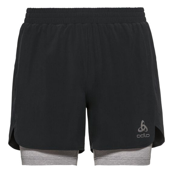MILLENNIUM LINENCOOL PRO 2-in-1 Shorts, black - grey melange, large