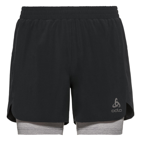 2-in-1 Shorts MILLENNIUM LINENCOOL PRO, black - grey melange, large