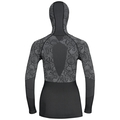 Shirt l/s with Facemask Blackcomb EVOLUTION WARM, black - odlo concrete grey - hot coral, large