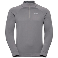 Men's Martin 1/2 Zip Midlayer, odlo concrete grey, large