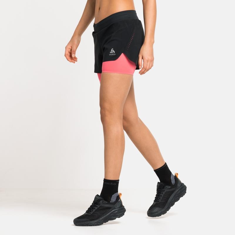 Damen ZEROWEIGHT 2-in-1 Shorts, black - siesta, large