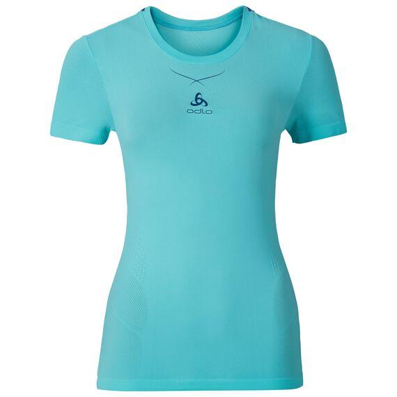 Ceramicool naadloos baselayer shirt voor dames, blue radiance - spectrum blue, large