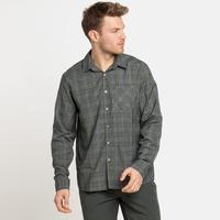 MYTHEN-overhemd met lange mouwen voor heren, climbing ivy - grey melange, large