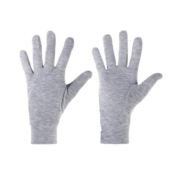 Gloves ORIGINALS Warm, grey melange, large