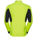 Men's MORZINE RAIN LIGHT Cycling Jacket, safety yellow - black, large