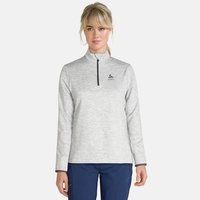 Midlayer con 1/2 zip ALAGNA da donna, grey melange, large