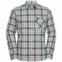 Shirt l/s MYTHEN LO, snow white - arctic - chili oil - check, large