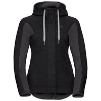 Midlayer full zip SKADI X-WARM, black melange, large