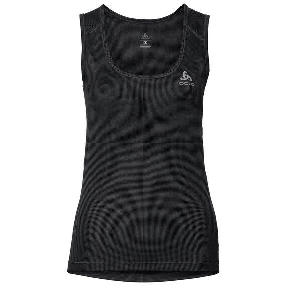 SUW TOP Crew neck Singlet ACTIVE Cubic LIGHT, ebony grey - black, large