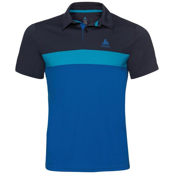 Polo NIKKO LIGHT, diving navy - blue jewel - energy blue, large