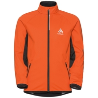 Cross-country jacket STRYN Kids, orangeade - black, large
