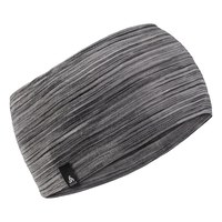 NATURAL 100% MERINO WARM-hoofdband, grey melange, large