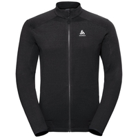 Midlayer full zip SIERRA ZIP IN, black, large