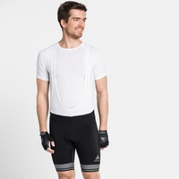 Men's ZEROWEIGHT Cycling Shorts with Suspenders, black - white, large