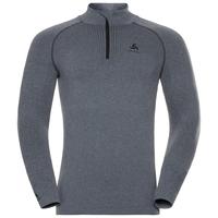 SUW Top Turtle neck 1/2 zip l/s PERFORMANCE Warm, grey melange - black, large