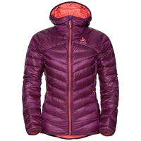 Giacca termica HOODY COCOON N-THERMIC WARM da donna, pickled beet, large