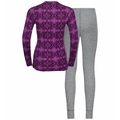 Women's WINTER SPECIALS ACTIVE WARM ECO Baselayer Set, hyacinth violet graphic FW20 - diving navy, large