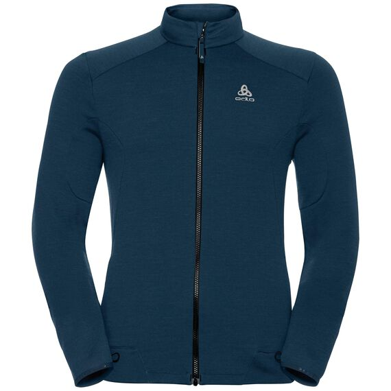 Midlayer full zip SIERRA ZIP IN, blue coral, large