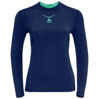 Ceramicool baselayer shirt women, peacoat - blue radiance, large
