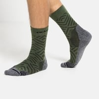 Chaussettes Crew unisexes CERAMICOOL HIKE GRAPHIC, climbing ivy - graphic SS21, large