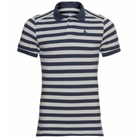 Polo Concord da uomo, odlo silver grey - diving navy - stripes, large