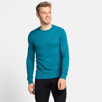Men's ACTIVE WARM ECO Long-Sleeve Baselayer Top, tumultuous sea, large