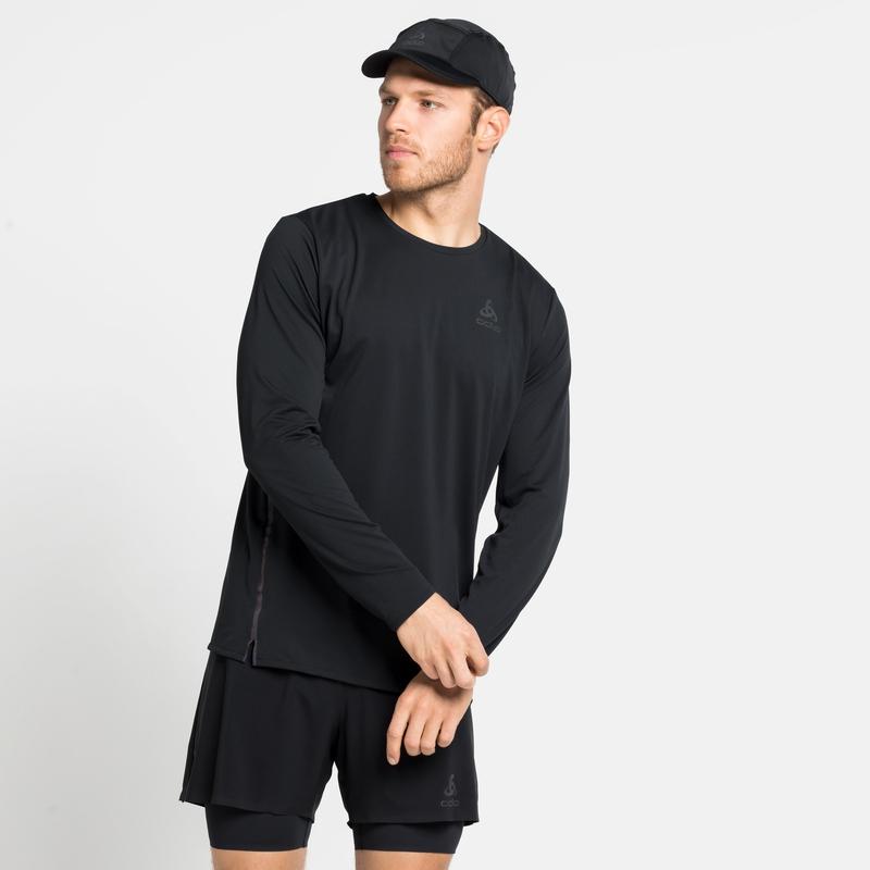 Men's ZEROWEIGHT CHILL-TEC BLACKPACK Long-Sleeve Running T-Shirt, black - blackpack, large