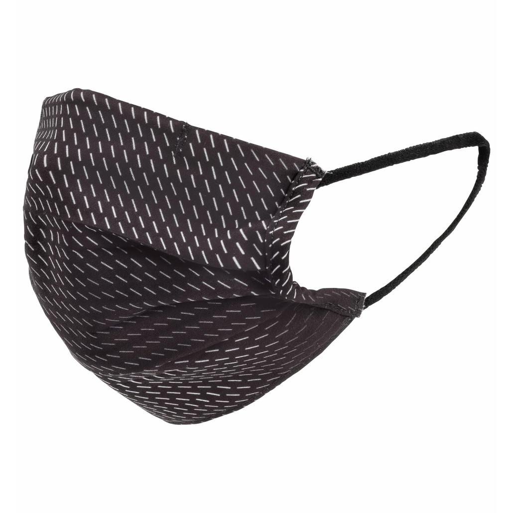 Face mask Community Mask-Single Piece, black - odlo silver grey - Stripes, large