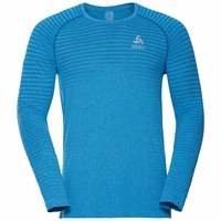 Men's SEAMLESS ELEMENT Long-Sleeve Top, tumultuous sea melange, large