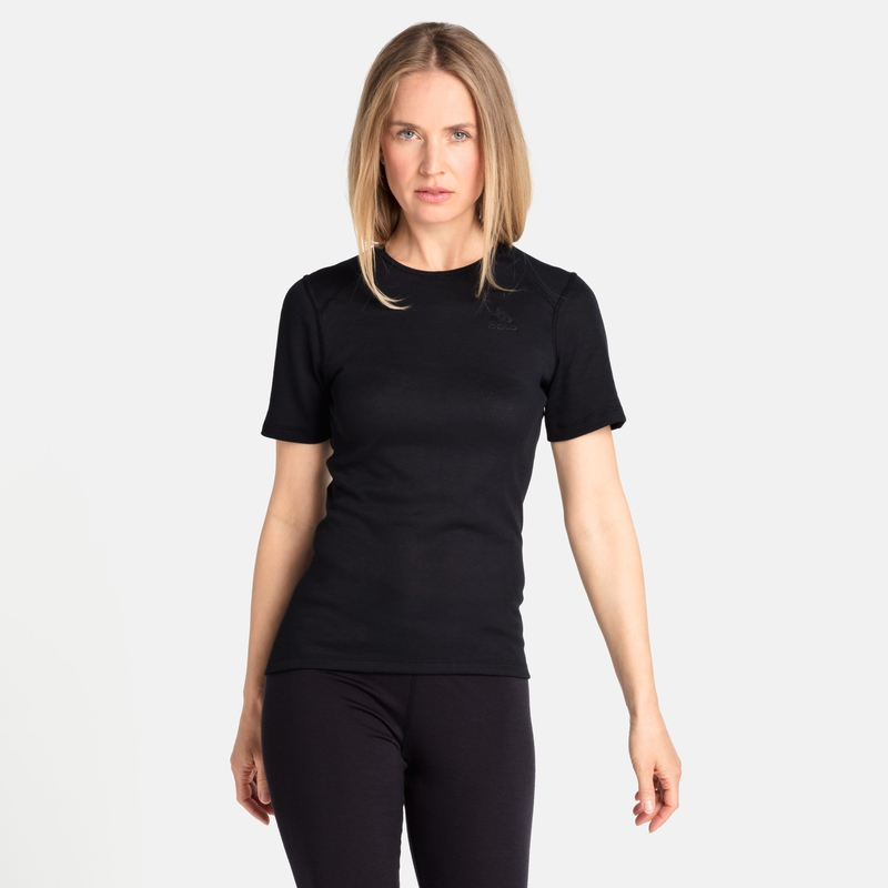Women's ACTIVE WARM ECO Base Layer T-Shirt, black, large