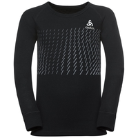 ACTIVE WARM TREND KIDS Long-Sleeve Baselayer Top, black - placed print FW18, large