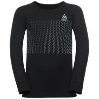 T-shirt technique à manches longues ACTIVE WARM TREND KIDS, black - placed print FW18, large