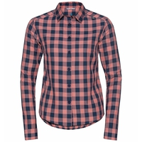 MYTHEN-blouse met lange mouwen voor dames, lantana - diving navy - check, large