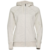 Women's ALMA NATURAL Full-Zip Hoody, light grey melange, large