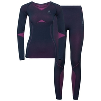 Set long PERFORMANCE EVOLUTION WARM, peacoat - pink glo, large
