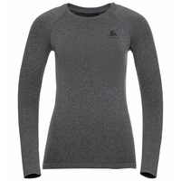 Women's PERFORMANCE WARM ECO Long-Sleeve Baselayer, grey melange - black, large