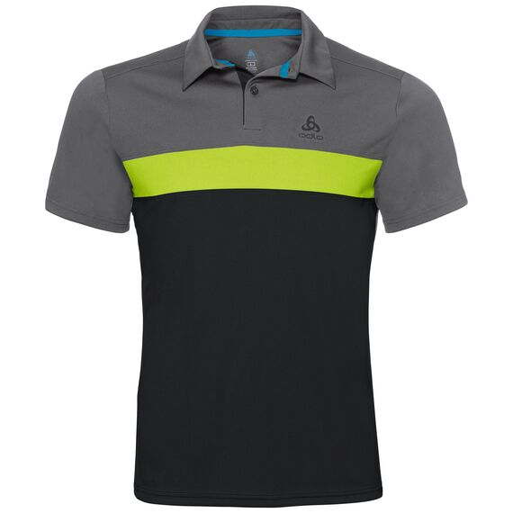 Polo NIKKO LIGHT, odlo steel grey - acid lime - black, large