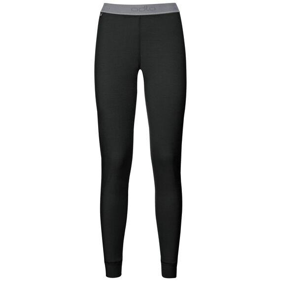 Natural 100 Merino Warm baselayer pants women, black, large