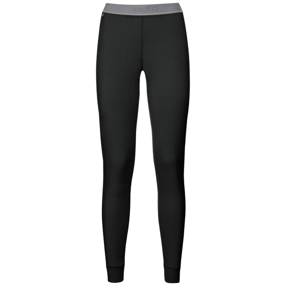 Natural 100 Merino Warm baselayer pants women, black, large